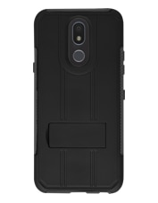 Image of LG K40  Kickstand Case - Black and Gray which is having color variants