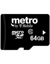 Image of 64GB microSD Memory Card which is not having color variants