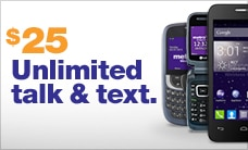 Talk and text for just $25 with MetroPCS