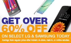 MetroPCS Blowout with more than 60% off LG and Samsung cell phones
