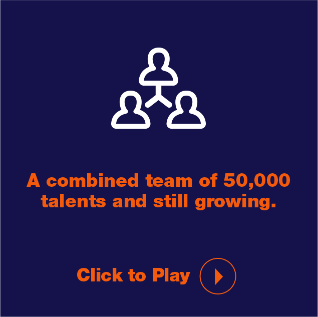 A combined team of 50,000 talents and growing