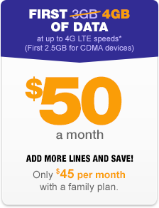 The $50 plan from MetroPCS is best for moderate data users