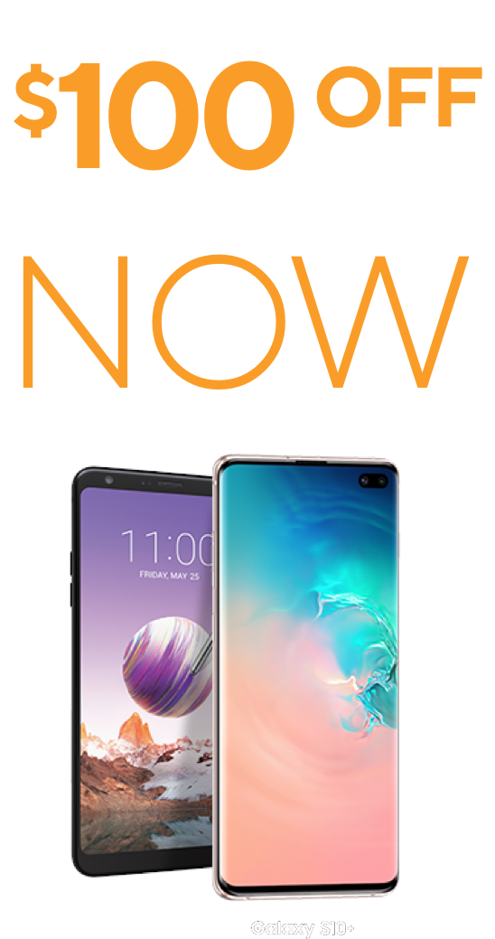 Samsung Galaxy S10e and LG Stylo 4 from Metro by T-Mobile. Add a line and get an instant $100 off any new smartphone now
