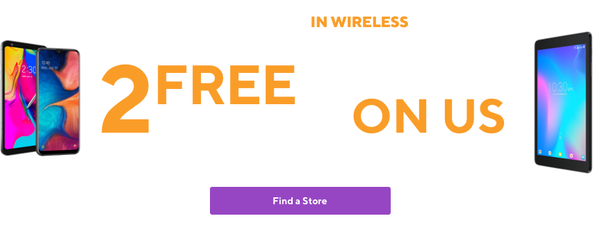 Start the new year with the Best deal in wireless. 2 free phones when you switch to Metro by T-Mobile. Plus sales tax and activation fee. Plus tablet on us after rebate redemption with 1 line on $60 base rate plan. Plus sales tax and activation fee. Requires 1 line on $60 base rate plan.