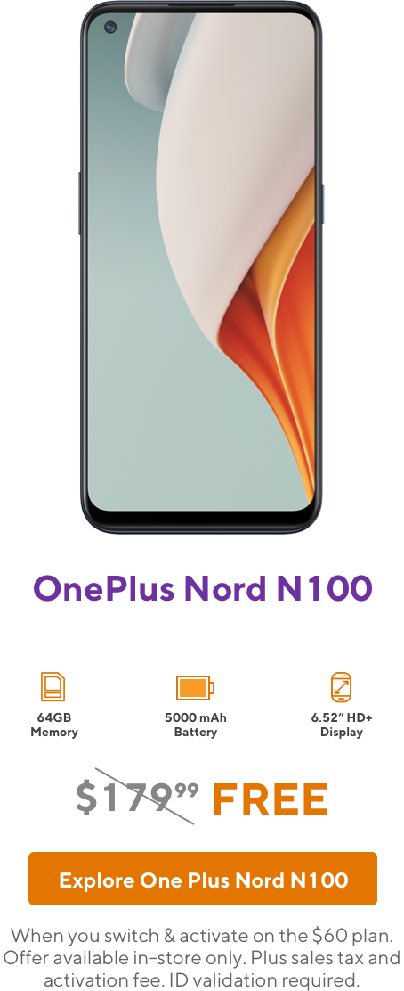 OnePlus Nord N100 from Metro by T-Mobile