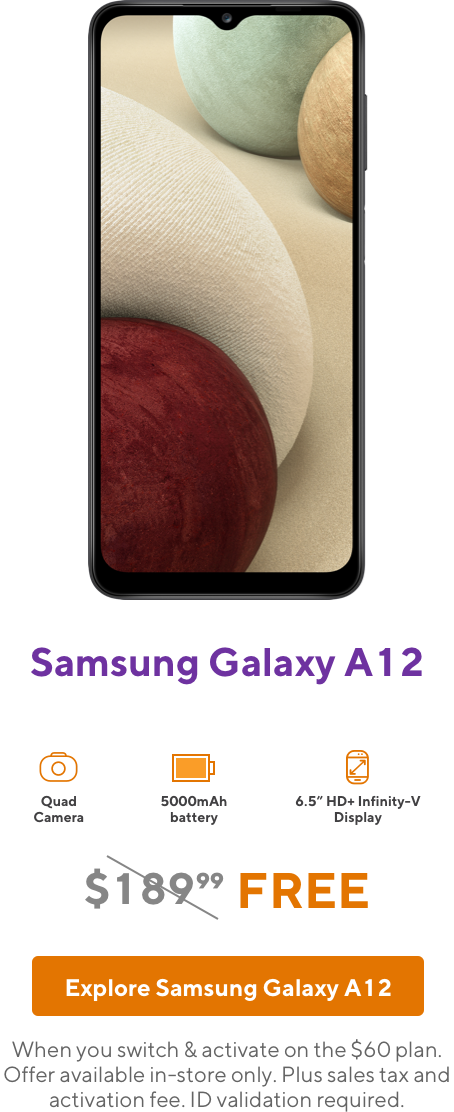 Samsung Galaxy A12 from Metro by T-Mobile