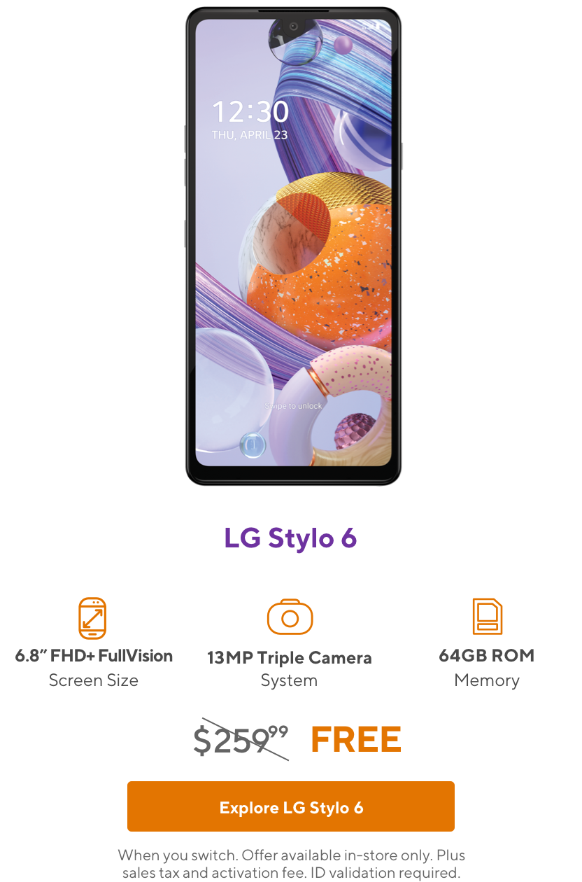 LG Stylo 6 from Metro by T-Mobile