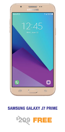 Samsung Galaxy J7 Prime Free from MetroPCS