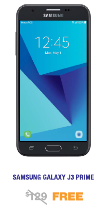 Samsung Galaxy J3 Prime Free from MetroPCS