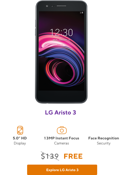 LG Aristo 3 from Metro by T-Mobile
