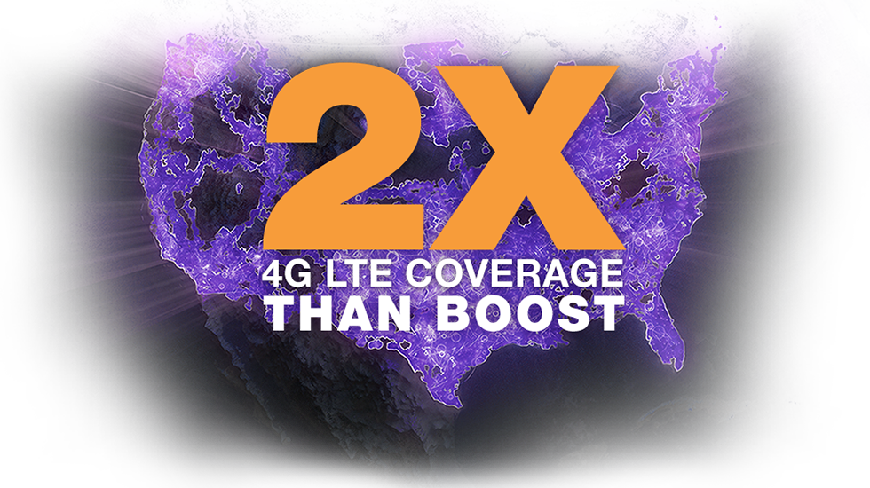 Get two times the coverage on a faster 4G LTE network