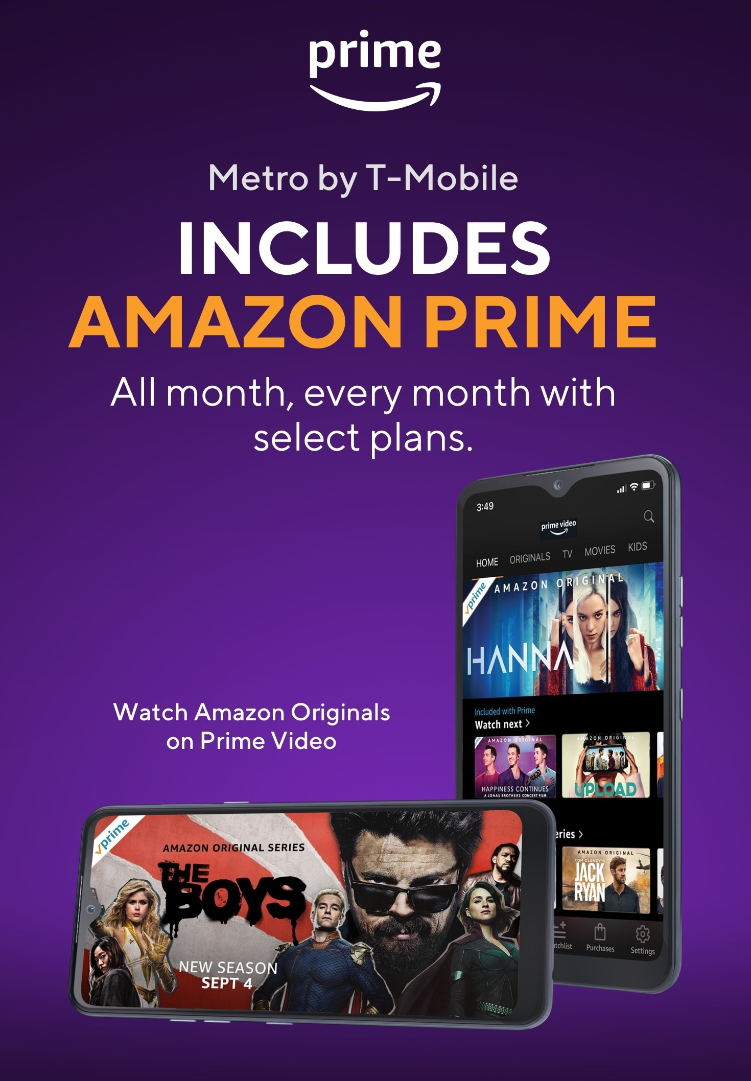 Amazon Prime Movies Music Free Shipping Metro By T Mobile