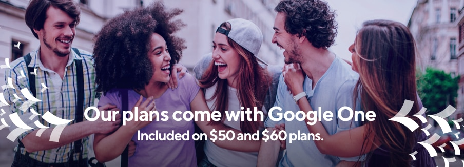 Only Metro comes with Google One now with our $50 and $60 plans. Capable Android device and qualifying rate plan required.