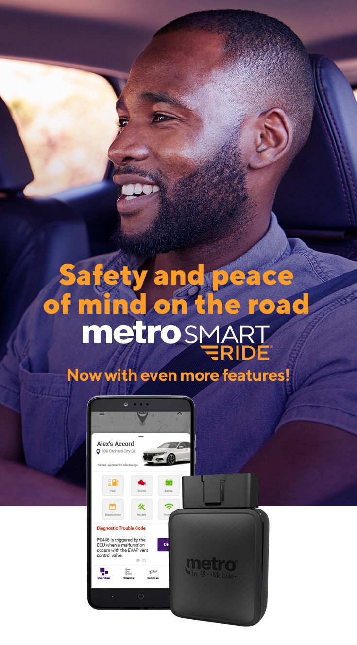 MetroSMART Ride® - GPS Tracker for Car & More | Metro® by T