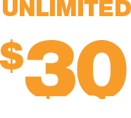 Unlimited data, talk and text for $30 period