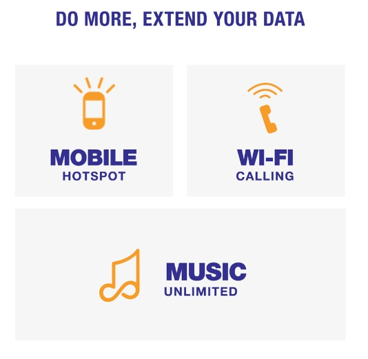 Your plan comes with features like Mobile Hotspot, that give you the most for your money