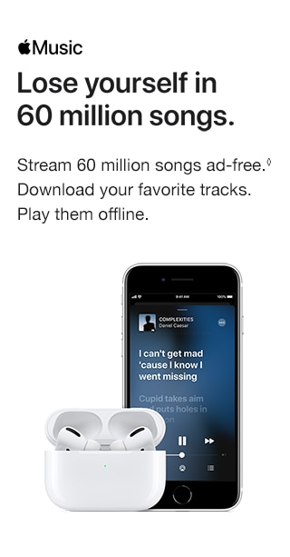 Apple Music. Stream 60 million songs ad-free. Download your favorite tracks. Play them offline.