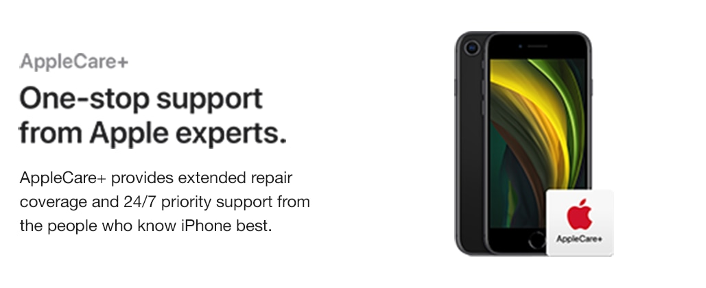 AppleCare. One-step support from Apple experts. AppleCare provides extended repair coverage and 24-7 priority support from the people who know iPhone best.