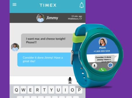 Timex FamilyConnect has in-app voice and instant messaging